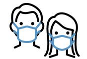 接客スタッフのマスク着⽤